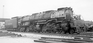 Union Pacific Big Boy Black and White Image